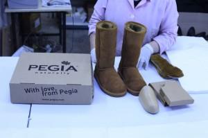 Sheepskin boot production